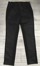 Miss Captain Tortue Black Stretch Jeans Front Coated Panel Black Size 42 BNWT