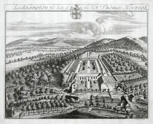 LECKHAMPTON COURT, Cheltenham, Gloucestershire, Johannes KIP antique print 1768
