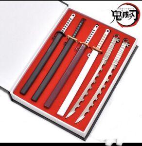 1/6 Scale Sword Set In Case Figure Weapons Accessories Demon Slayer Samurai