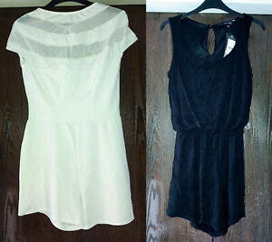2 x Brand Playsuits Clothes Bundle - New Look & Boohoo (UK Size: 10) NEW