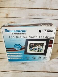 "New Panimage by PanDigital  LED DIGITAL PHOTO FRAME 8"" Wood Frame/1600 Images"