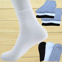4-12 Pairs New Man's Ankle/Quarter Crew Men Athletic Sport Socks Low Cut 3Colors