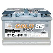 Autobatterie 12V 85Ah 950 A/EN AGM Solar Caravan Boot GoldMax85