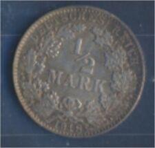 alemán Imperio Jägernr: 16 1918 e Flor di cuño Plata 1918 1/2 marcos gra(7859366