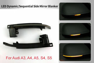 Sweeping flowing LED side wing mirror indicator lamp light for Audi A3 A4 A5 S4