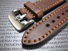 26mm NEW COW Brown LEATHER STRAP Copper Stitch Watch BAND PAM 26 47mm