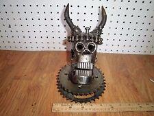 Skull Viking - Hand Made Scrap Metal Sculpture Statue - Heavy Horror Skull