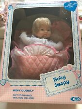Vintage 70s Baby Sleepy Doll New in Box Playmates 14 Inch