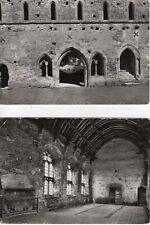 Postcards Cleeve Abbey Washford Somerset Capter House entrance & Refectory 1960s