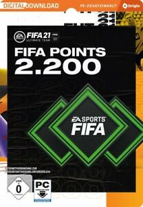 FIFA 21 - 2200 Ultimate Team Points (PC) EA Origin Code Email Lieferung