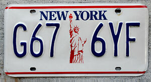 1993 New York Statue of Liberty License Plate