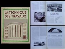 LA TECHNIQUE DES TRAVAUX n°9 1950 LIEGE PONT DES ARCHES, QUEBEC, HANGAR AVIATION