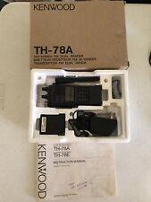 Kenwood FM Dual Bander Transceiver TH-78A Ham Radio 2 Handheld Headphone 2 Adapt