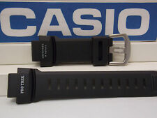 Casio Watch Band PRG-260,PRW-550,PRW-3500.ProTrek Triple Sensor Black Strap