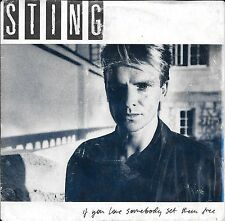 "45 TOURS / 7"" SINGLE--STING--IF YOU LOVE SOMEBODY SET THEM FREE--1985"