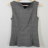 [ CUE ] Womens Sleeveless Plaid Top  |  Size AU 8 or US 4