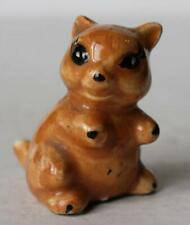 Squirrel-Chipmunk Figurine Miniature Ceramic-Porcelain Hand Painted Adorable-Vtg