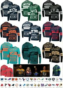 NFL Light-Up Ugly Sweater - Team Beans Officially Licensed Colors Sizes  A371650