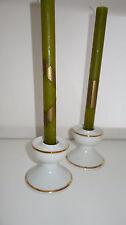 2 Kerzenständer Porzellan weiß Goldrand Winterling Marktleuthen 50 60er Vintage