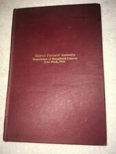 Vintage Illinois Farmers Institute of Household Science Year Book 1914