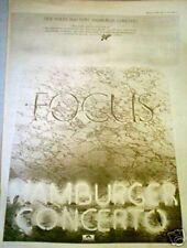 FOCUS Hamburger Concerto 1974  UK Poster size Press ADVERT 16x12 inches