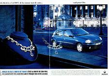 PUBLICITE ADVERTISING 026  1999  Renault  Clio  AM  2000   (2p)