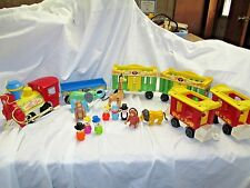 Vintage Fisher Price Little People Circus Train 991 complete with extras