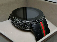 Brand New Mens I Gucci Digital Black Diamond Watch 4 Ct YA114207