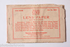 CENCO #12290 Lens Tissue Central Scientific Co. Paper - English - VINTAGE B36