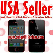 Anti Glare Full Body Screen Protector Apple iPhone 4 4G