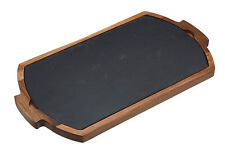 Artesa 2 pièces acacia bois & ardoise serving board, fromage, fruits, pains, buffets