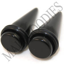 "0614 Black Stretchers Tapers Expenders 5/8"" Inch 16mm"