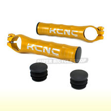 KCNC BE1 Ultralight 7075 Alloy Bar Ends + BAR END Plugs , Gold