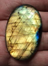 Cabochon pierre fine en Labradorite, 54x35x8 mm, grand format