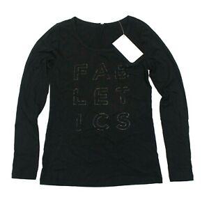 Women's Fabletics Long Sleeve Scoop II Printed Tee - Black - S