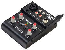 New Pyle PAD10MXU 2 Channel Mini Mixer With USB Audio Interface DJ Pro Audio