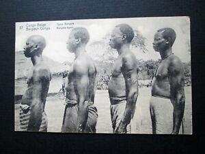 BELGIAN CONGO, BANGALA TRIBESMEN - UNKNOWN PUBLISHER (1916)