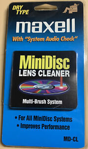 MAXELL MD-CL LENS CLEANER FOR SONY PORTABLE MINIDISC RECORDER, MZ-B100 MODEL
