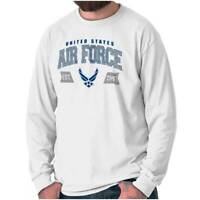Athletic USAF Air Force American Official Long Sleeve Tshirt Tee for Adults