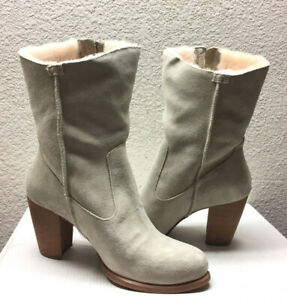 UGG LYNDA NATURAL HIGH HEEL SUEDE BOOTS US 8.5 / EU 39.5 / UK 7 - NIB