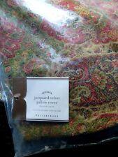 Pottery Barn jacquard velvet pillow cover sham 16 x 26  Housse de Coussin
