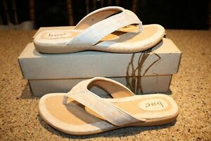 New BOC Born Women's Zita Cream Exotic Snake Thong Sandals Size 10 M