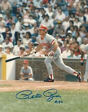PETE ROSE #4 REPRINT AUTOGRAPHED SIGNED 8X10 PICTURE PHOTO CINCINNATI REDS RP