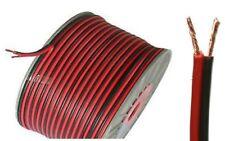 100 M Cable De Altavoz Rojo Negro 20AWG 2x0.5mm Alambre de sonido envolvente Car Audio Hi-fi