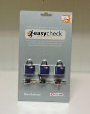 3 pc. Brookstone Mini Luggage Padlocks TSA Approved Travel Sentry Certified