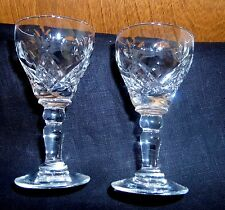 2 Royal Brierley Cordial Glasses Crystal Elizabeth-Clear Pattern Signed Disconti