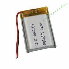 3.7V 340 mAh Polymer Li battery Lipo For bluetooth headset pen Sat nav 502030