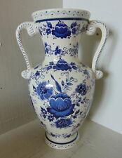 H. Bequet vase for Jema Holland - handmade - Delfts blue floral design - Nr. 879