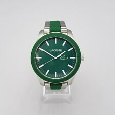 LACOSTE LC.79.1.29.2724 MENS WATCH GREEN DIAL GREEN RUBBER/STAINLESS STEEL