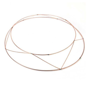 """16"""" RAISED Wire Wreath Round Rings for Christmas Decoration"""